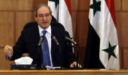 وزير خارجية النظام السوري فيصل المقداد