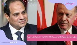 الرئيسان التركي رجب طيب أردوغان والمصري عبد الفتاح السيسي