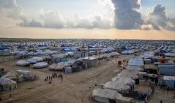 مخيم الهول شمال شرقي سوريا