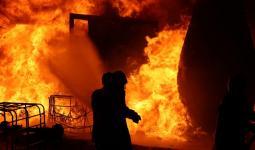 إطفاء الحرائق شرق حلب - الدفاع المدني