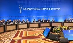 جانب من اجتماعات الحوار بين الأطراف السورية في أستانة