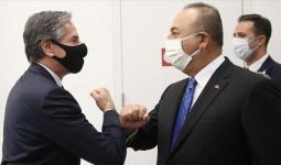 وزير الخارجية التركي مولود تشاووش أوغلو، ونظيره الأمريكي أنتوني بلينكن
