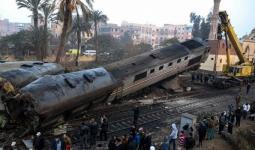 إحدى حوادث القطارات في مصر