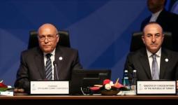 وزير الخارجية التركي مولود جاويش أوغلو ونظيره المصري سامح شكريِ