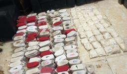 مخدرات وحشيش ضبطها الجيش الأردني قادمة من سوريا
