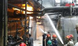 حريق في مصفاة حمص