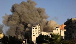 استهداف برج الشروق بمدينة غزة