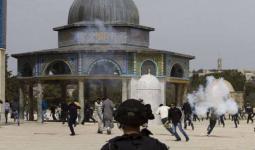 جانب من اعتداءات الاحتلال في المسجد الأقصى