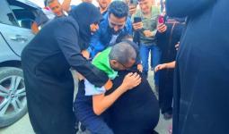 لحظة وصول الشاب محمد المدلج إلى الشمال السوري المحرر