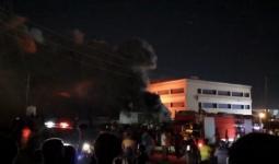 حريق في مشفى الناصرية بالعراق