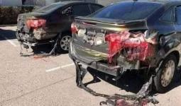 سيارات مذابة في حادث بأمريكا