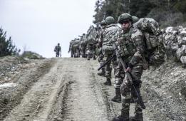 عناصر من قوات الكوماندوز التركية شمالي سوريا