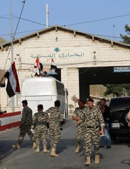 إحدى النقاط الحدودية بين لبنان وسوريا