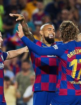 برشلونة يتخطى إيبيزا