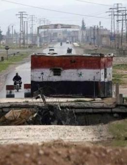 أحد حواجز نظام الأسد في درعا