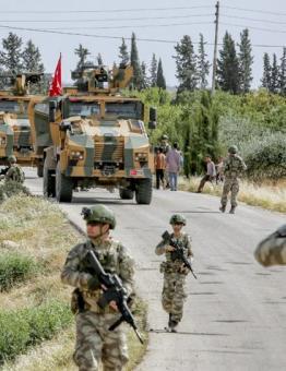 قوات من الجيش التركي شمالي سوريا