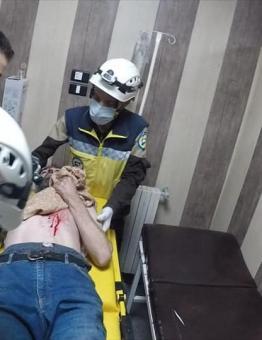 أحد الجرحى في مدينة أريحا - الدفاع المدني