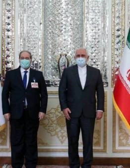 وزيرا خارجية الأسد وإيران