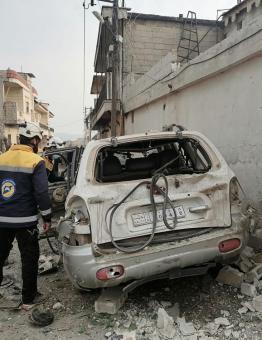 مكان التفجير في جنديرس 2 1 2021
