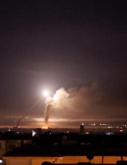 قصف إسرائيلي سابق لمواقع نظام الأسد في سوريا