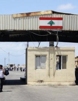 أحد المنافذ البرية بين سوريا ولبنان
