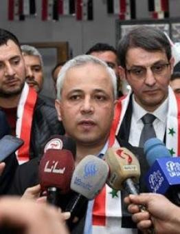 وزير الاتصالات في حكومة نظام الأسد إياد الخطيب