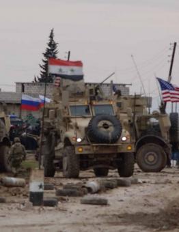 قوات أمريكية وروسية شرقي سوريا
