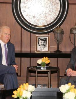 الملك عبدالله الثاني يلتقي نائب الرئيس الأمريكي، جو بايدن في قصر الحسينية -أرشيف