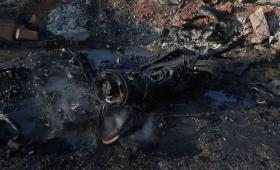 صورة من مكان انفجار السيارة المفخخة