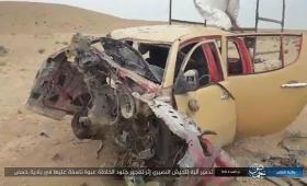 تدمير مركبة لميليشيا الأسد.jpg