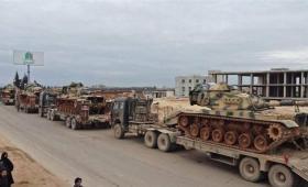 رتل دبابات للجيش التركي يدخل إدلب