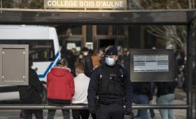 مسرح مقتل معلم فرنسي على يد شيشاني