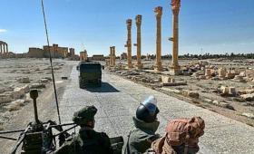 قوات روسية في مدينة تدمر شرقي حمص