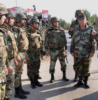 ميليشيا نظام الأسد خلال الانتشار في سوريا مؤخراً