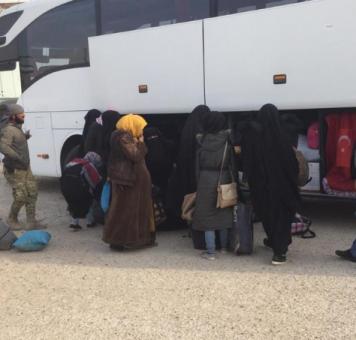 جانب من الوصول اللاجئين إلى تل أبيض