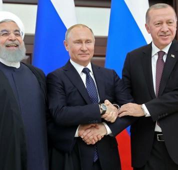 روحاني وبوتين وأردوغان