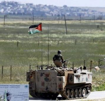 الجيش الأردني على الحدود مع سوريا