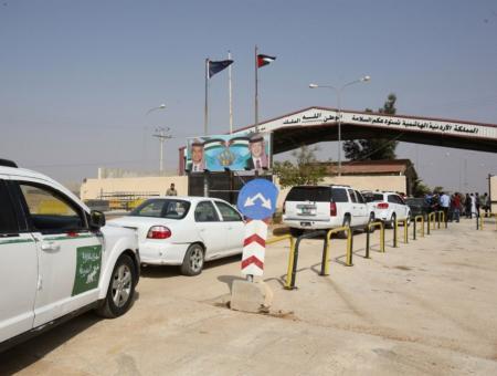 معبر نصيب الحدودي بين الأردن وسوريا