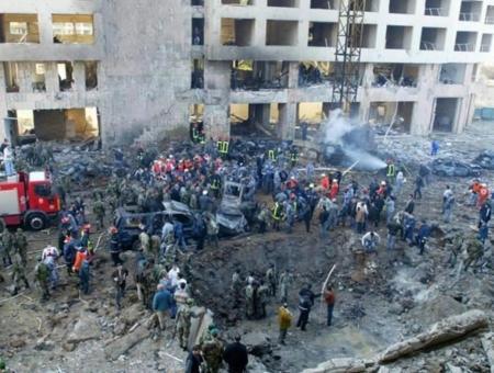 مكان اغتيال رفيق الحريري في لبنان بكمية كبيرة من المتفجرات