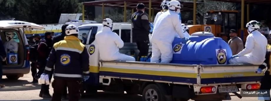 تزود فرق الدفاع المدني السكان بمعلومات عن كيفية الوقاية من فيروس كورونا المستجد القاتل