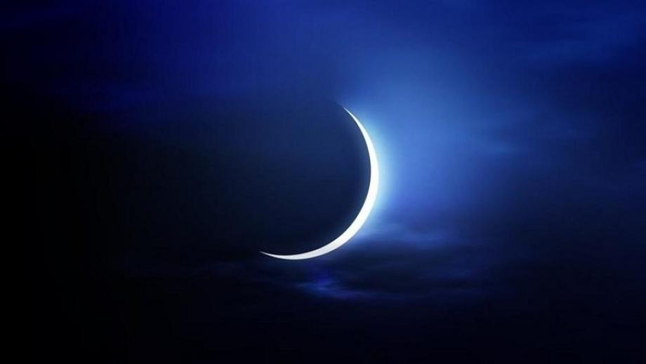 هلال القمر في أول أيام الشهر الهجري - إنترنت