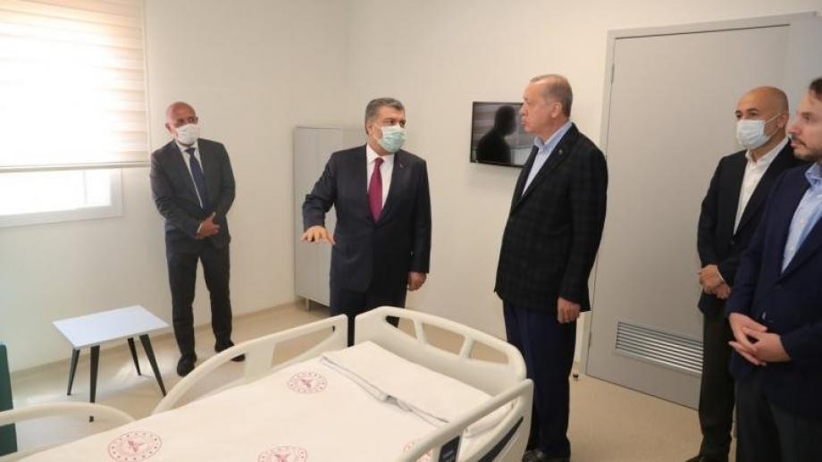 الرئيس أردوغان في زيارته الأولى بعد الحجر بسبب كورونا