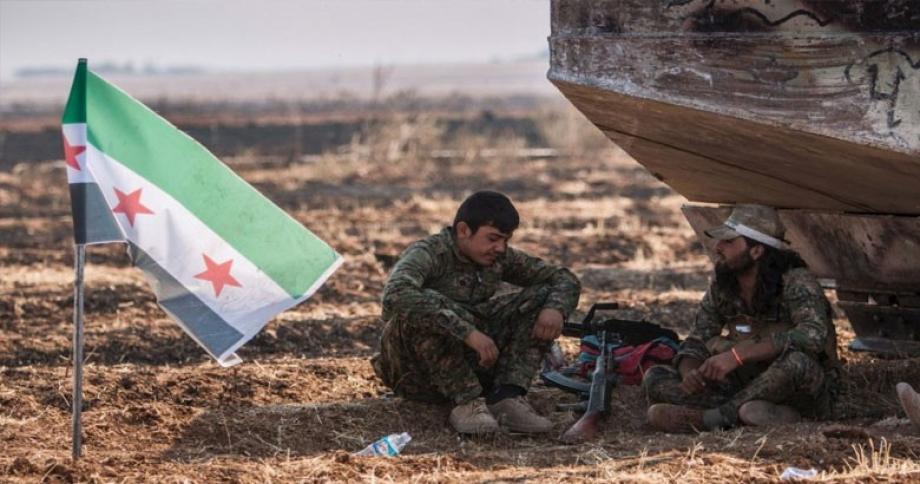 عناصر من الثوار جنوبي إدلب