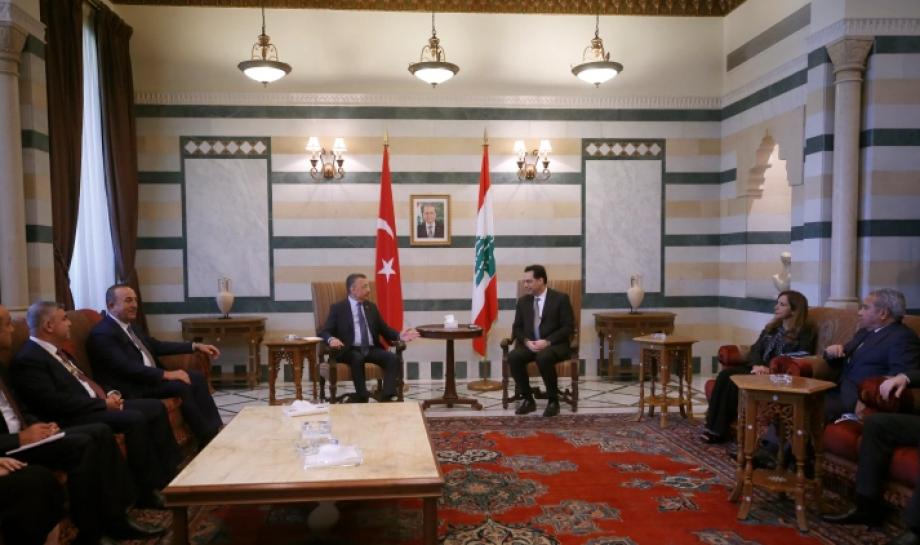 جانب من لقاء وفد تركي بمسؤوليين لبنانيين