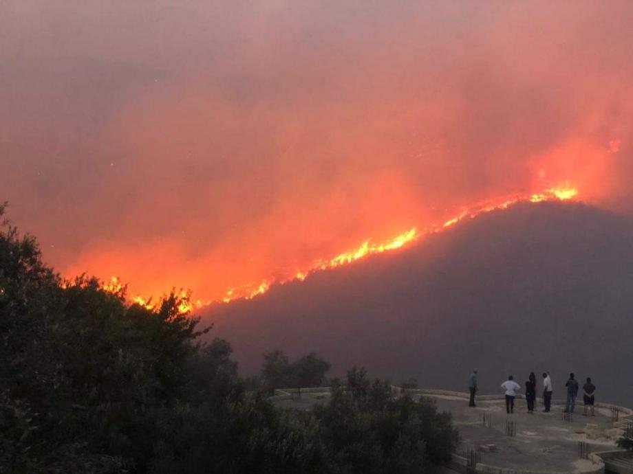 حريق سوريا