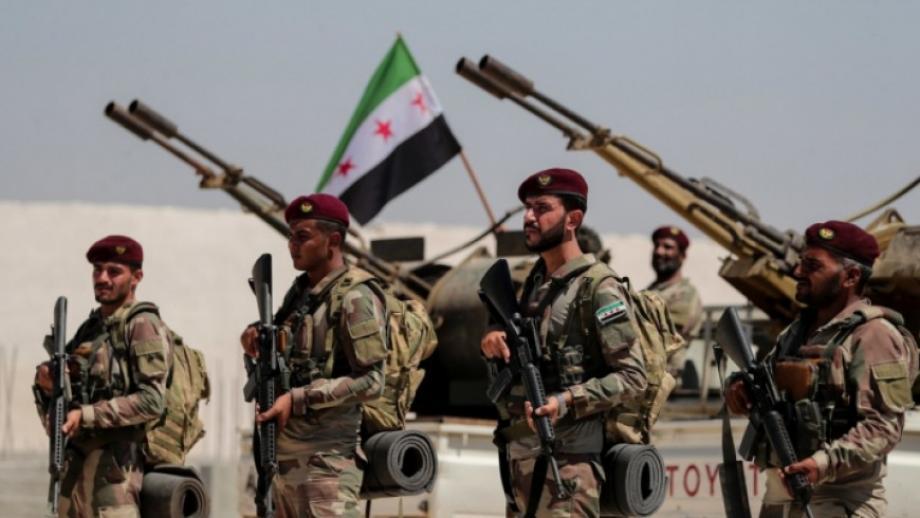 مقاتلين من الجيش الوطني السوري