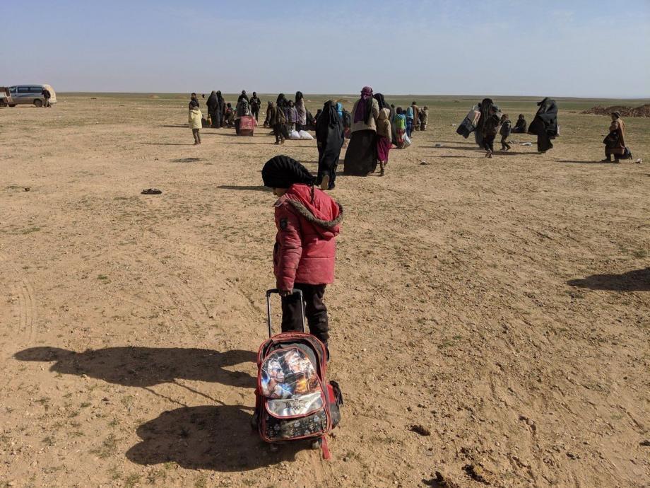 طفلة في مخيم الهول شرق الحسكة