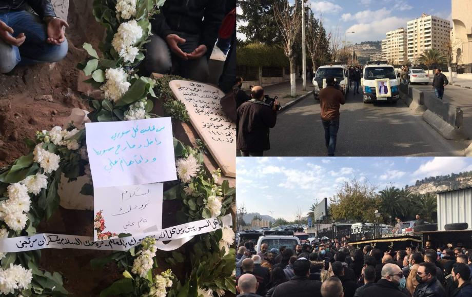 تشييع حاتم علي في دمشق