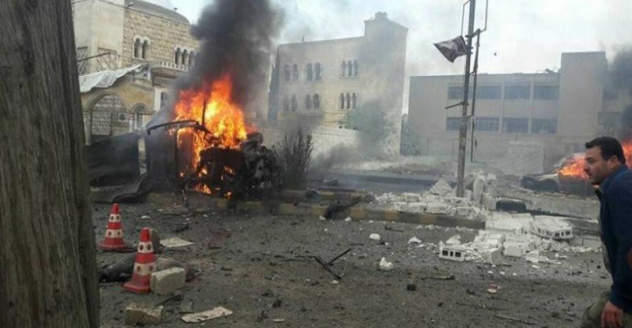 تفجير سابق في ريف حلب الشمالي