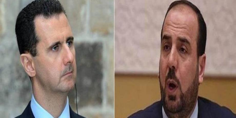 بشار الأسد ونصر الحريري